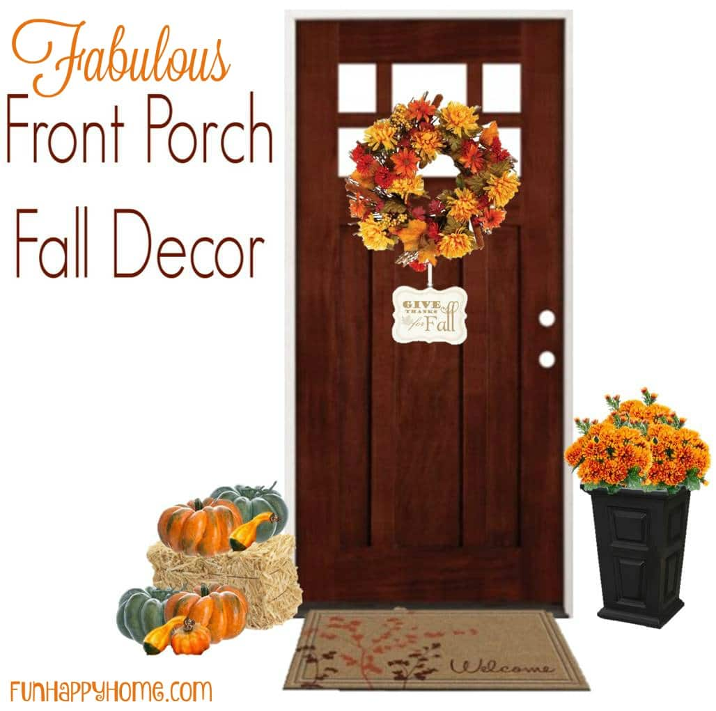 front door decorating ideasFall Front Porch Decorating Ideas That Only Take Minutes to Put Up