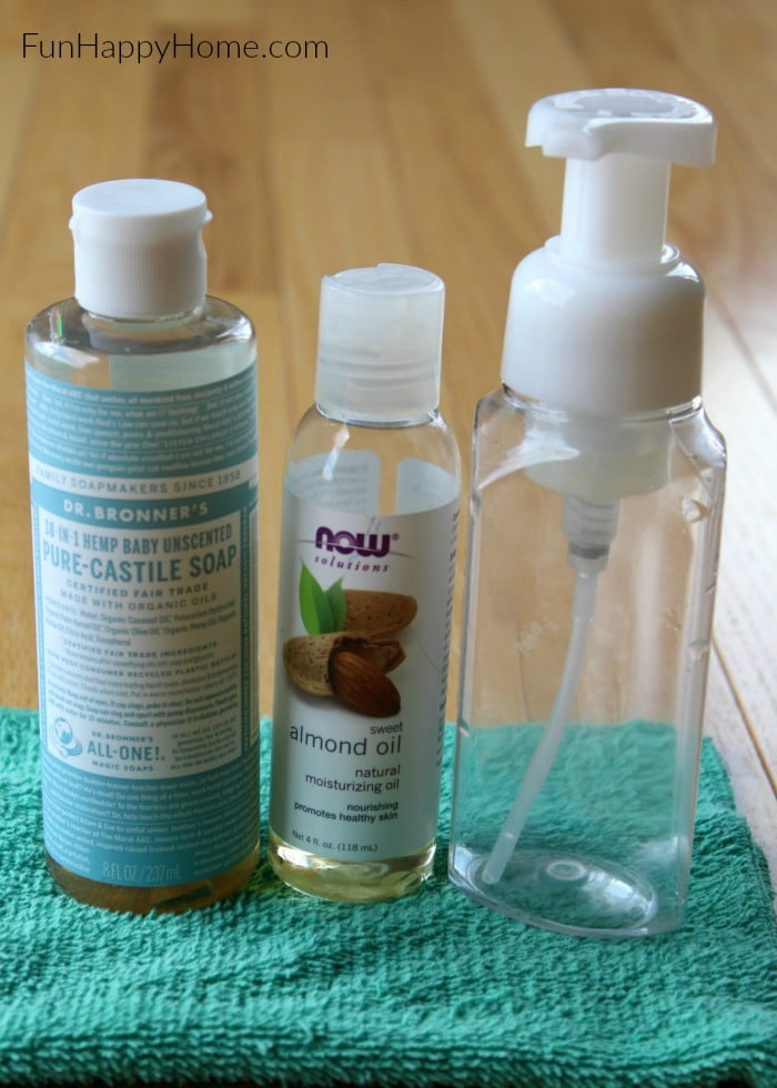 Foaming Soap Dispenser: Make our easy Homemade Foaming Soap Dispenser with Essential Oils for a safe and inexpensive alternative to the popular brands.