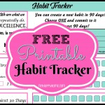 Habit Tracking {And A FREE Printable Habit Tracker}
