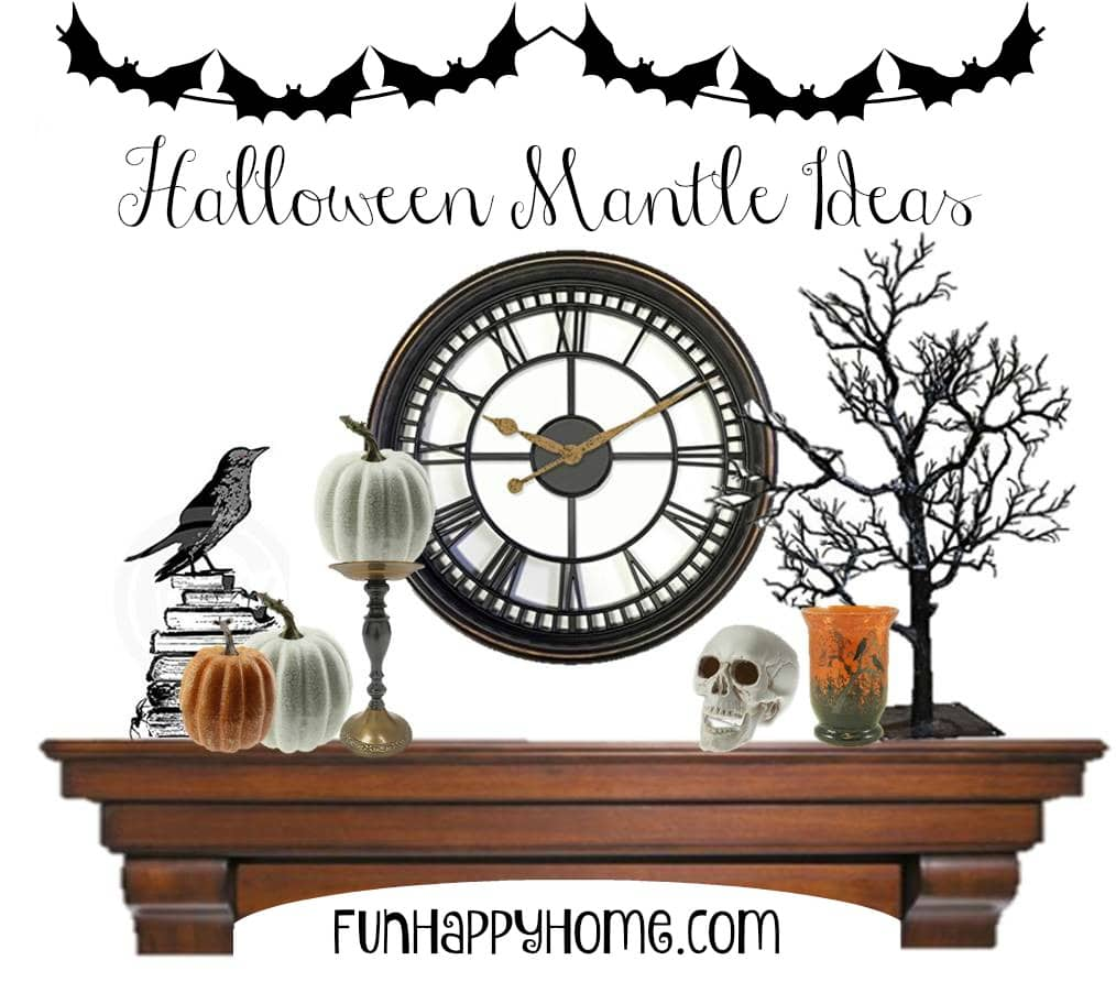 Halloween Mantle Ideas from FunHappyHome.com