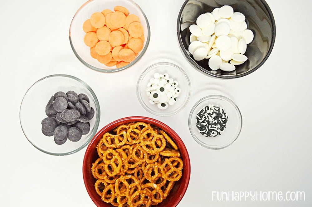 Halloween Pretzel Treats Ingredients