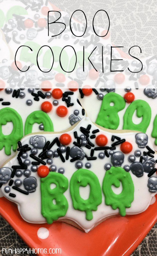 Easy Halloween Cookies - We're not tricking you, these Boo cookies are a treat!