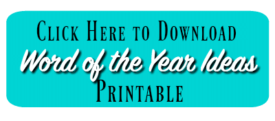 Download Word of the Year Ideas Printable