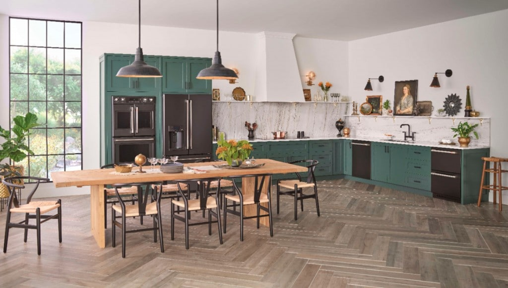 dream kitchen with cafe matte collection appliances