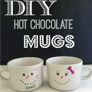DIY Hot Chocolate Mugs Snowman-Mugs-from-FunHappyHome.com_