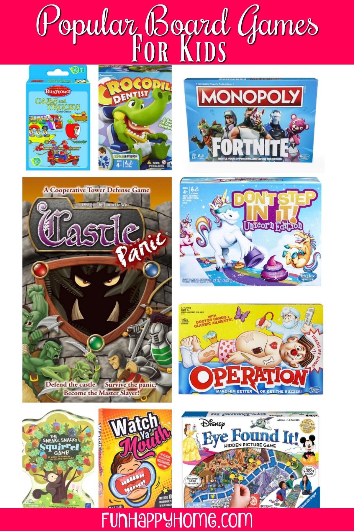 Popular Board Games for Kids