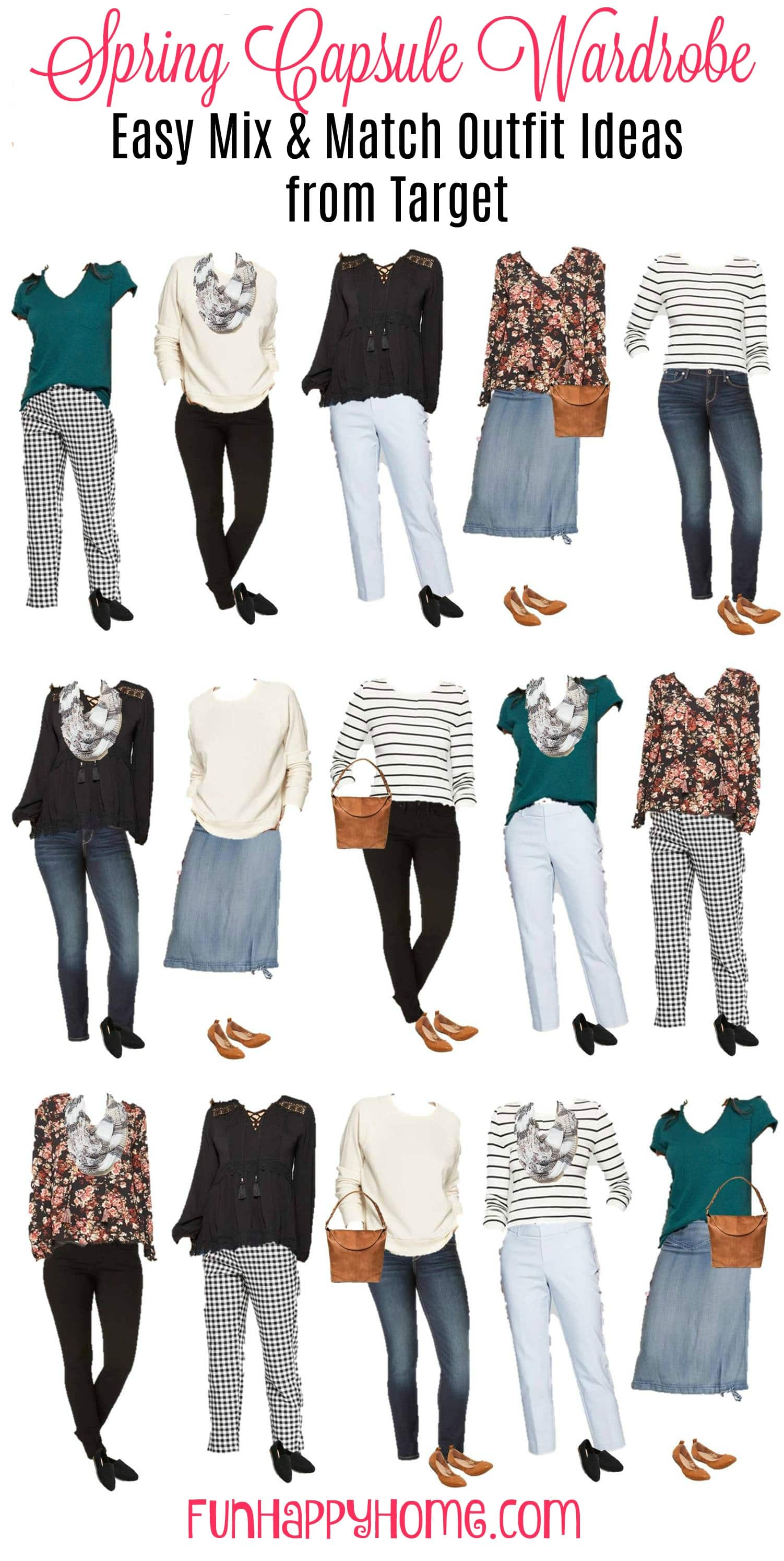 Spring Capsule Wardrobe Easy Mix and Match Outfit Ideas from Target