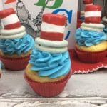 Dr. Seuss Cupcakes for Dr. Seuss' Birthday