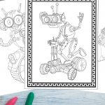 Robot Coloring Pages For Boys & Girls