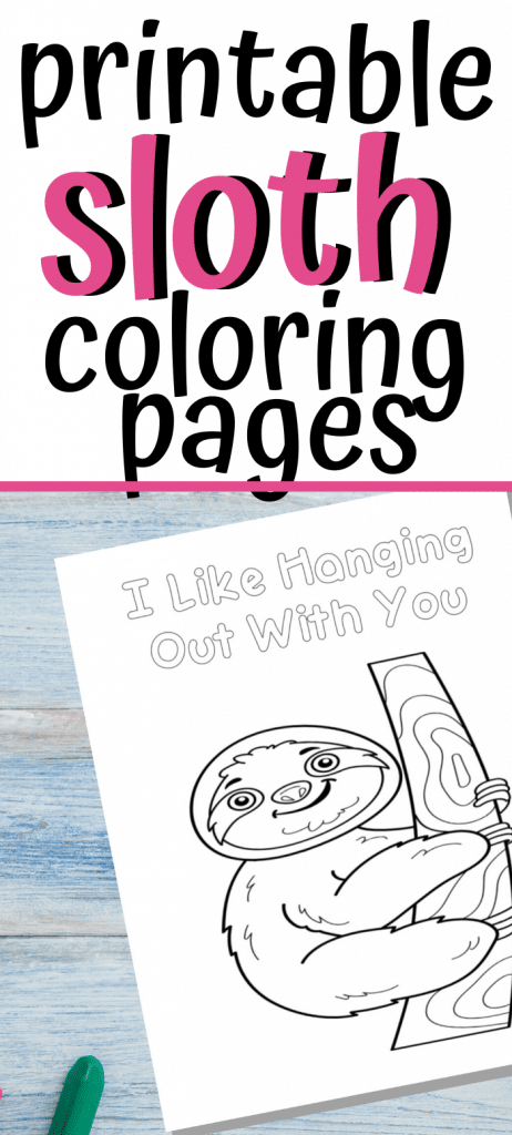 - Printable Sloth Coloring Pages - Fun Happy Home