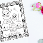 Printable Llama Coloring Pages