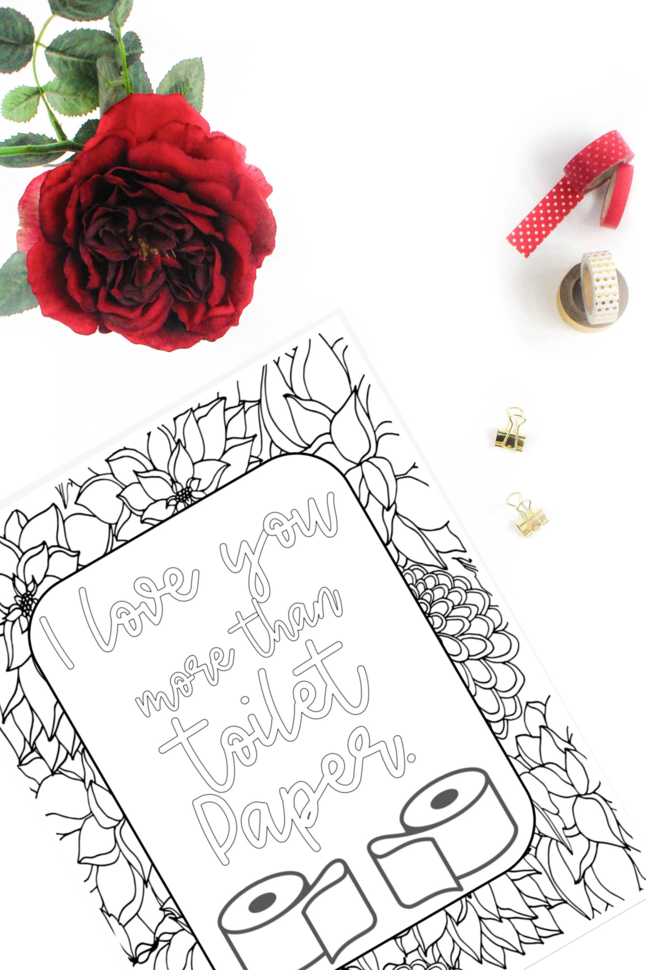 I love you more than toilet paper coloring page from signs ...