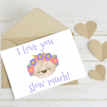 Sloth Printable Mothers Day Cards