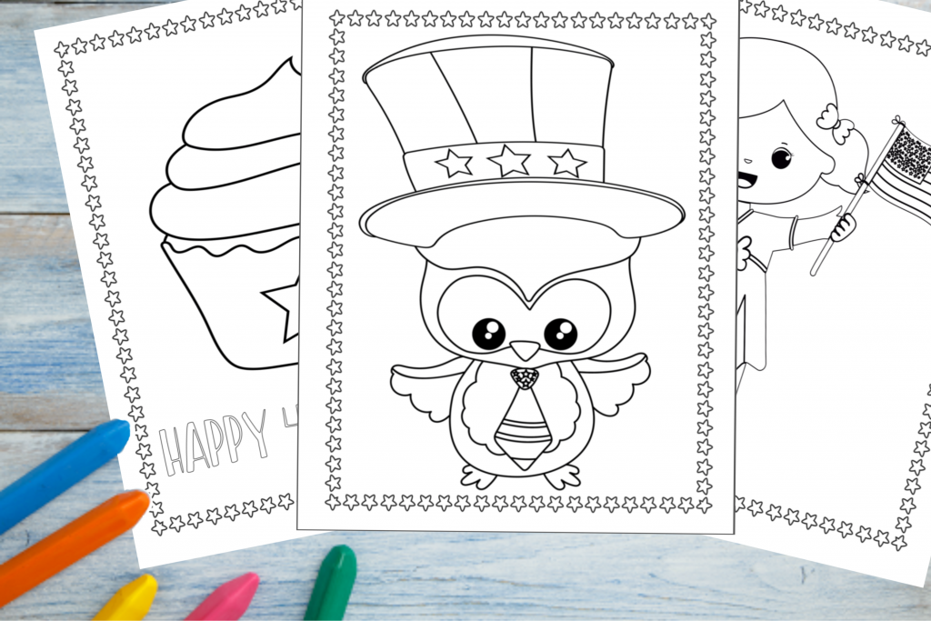 Printable 4th Of July Coloring Pages - Fun Happy Home
