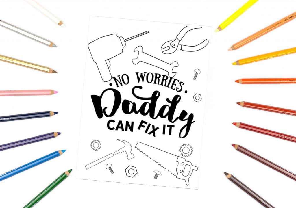Printable Father S Day Coloring Pages Fun Happy Home