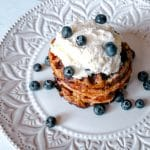Keto Blueberry Waffles {Blueberry Chaffles Recipe}