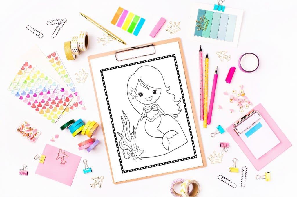 Printable Mermaid Coloring Pages Fun Happy Home