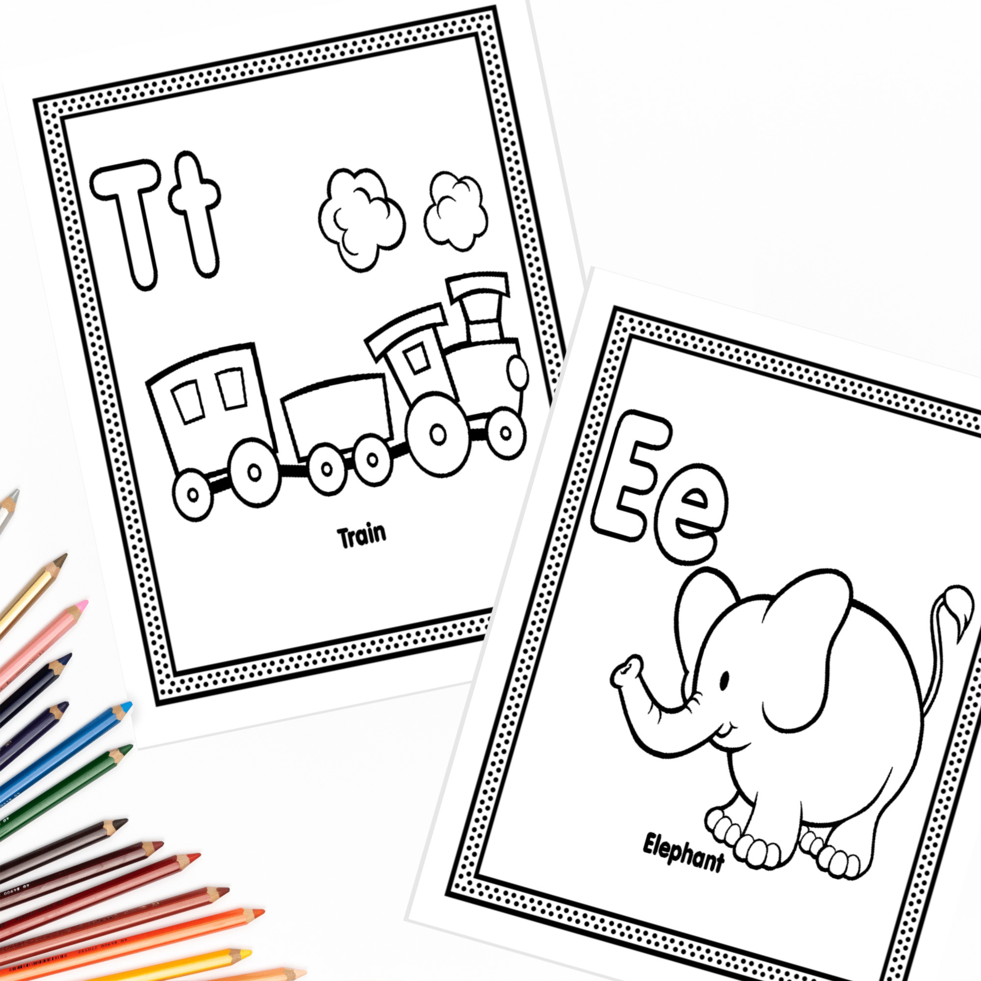The Alphabet Coloring Pages   Fun Happy Home