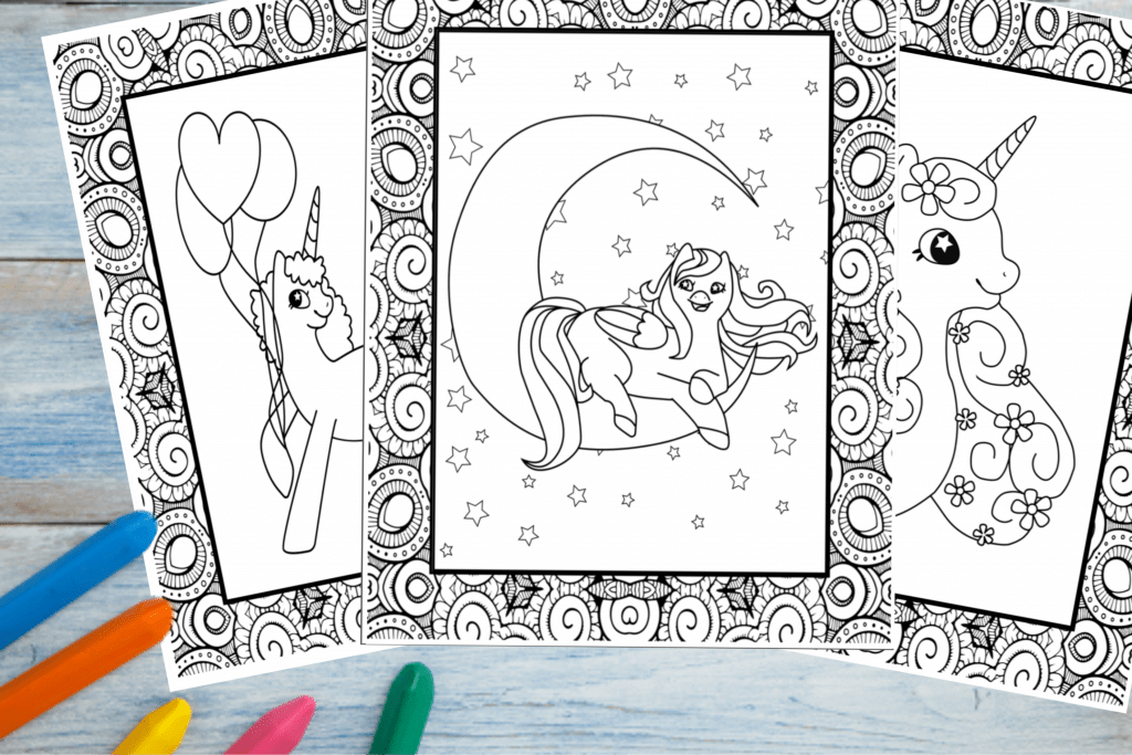 - Printable Unicorn Colouring Pages - Fun Happy Home